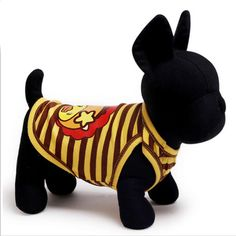 Hot Sale 100% Cotton Pet dog Shirt Cute Yellow Stripe Dog Vest With 2 Colors Size XXS-L For Small and Large In Summer Price: USD 4.79   United States