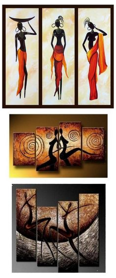 Extra large hand painted art paintings for home decoration. Large wall art, canvas painting for bedroom, dining room and living room, buy art online. 3 Piece Canvas Art, 3 Piece Wall Art, Large Canvas Art, Large Painting, Hand Painting Art, Woman Painting, Large Art, Abstract Paintings, Buy Paintings Online