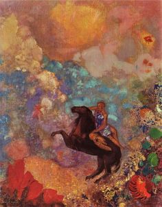 Muse on Pegasus - Odilon Redon, 1900 - WikiPaintings.org