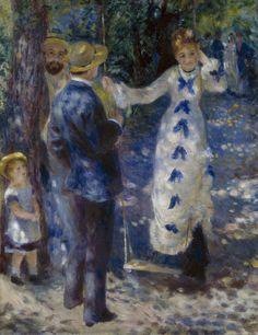 THE SWING (1876) by Auguste Renoir | Impressionism | Oil on canvas | 73 x 92 cm | Musée d'Orsay, Paris, France