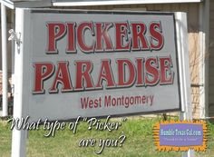 Pickers unite! Your Paradise is in Willis. And for more picker stuff: http://bit.ly/2nKkv8h
