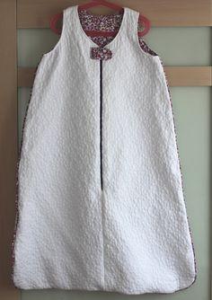 White sleeping bag