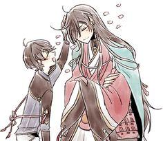 Izuminokami Kanesada and Horikawa Old Anime, Anime Guys, Manga Anime, Anime Art, Touken Ranbu, Cutest Couple Ever, Japanese Cartoon, Magic Kaito, Boyxboy