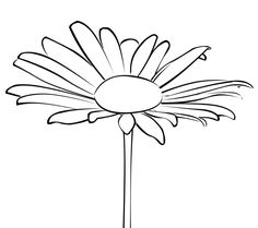 daisy free digital stamp by Birds Cards Daisy Love, Flower Doodles, Machine Embroidery Applique, Bird Cards, Digi Stamps, Copics, Adult Coloring Pages, Line Drawing, Doodle Art