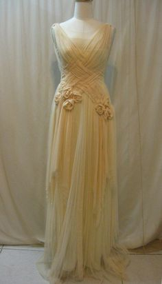 Custom Made Unique Crisscross Pleated NonTraditional Wedding Dress. , via Etsy. Pleated Wedding Dresses, Handmade Wedding Dresses, Diy Wedding Dress, Wedding Gowns, Bridesmaid Dresses, Chiffon Dress, Vintage Dresses, Vintage Outfits, Vintage Fashion