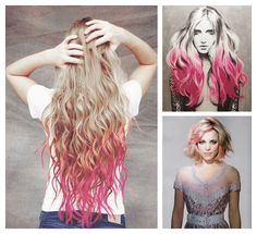 really like the one on the left...except would like the tips a dark brown.