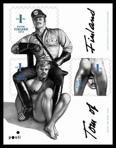 Finnish postage stamps celebrate the art of Tom of Finland.