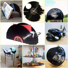 deko ideen und diy projekte mit Schallplatten