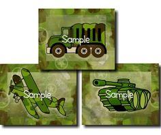images of camo boys nursery | Set of 3 Camo Army Military Vehicles Boys Bedroom 8 x 10 Kids Wall ART ...