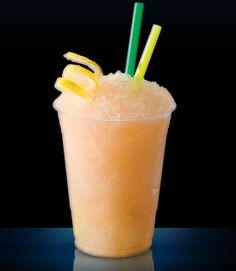 Orange Sunrise • 2 seedless peeled oranges • 1 oz Lemon Blast Mixer • 7 oz diet 7UP or water • 1 cup vanilla frozen yogurt