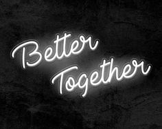 Wedding Day Better Together Neon Sign – Wedding Neon Signs Custom Neon Signs, Led Neon Signs, Together Quotes, Banquet Decorations, Wedding Reception Food, Sign Maker, White Aesthetic, Better Together, Neon Lighting