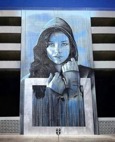 'Face Of Reno', Street Art by Angelina Christina