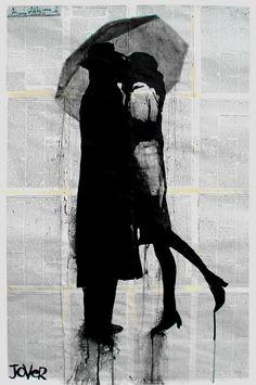 "Saatchi Online Artist: Loui Jover; Pen and Ink, Drawing ""tete-e-tete"". @Deidré Wallace"