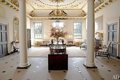 Entry Hall - Dumfries House...  From...  http://www.architecturaldigest.com/decor/2012-02/prince-charles-dumfries-house-scotland-slideshow#slide=3