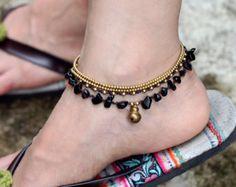 Lapis Lazuli Minimal Stone Anklet by XtraVirgin on Etsy