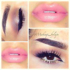 Love the pink lipstick Makeup Inspiration, Makeup Ideas, Makeup Tips, Eye Makeup, Beauty Art, Beauty Tips, Beauty Hacks, Bold Lips, Pink Lips