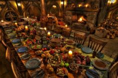 Inside The Green Dragon Inn, beside the glow of the open fire is a table heaving with traditional Hobbit fare. This truly is a banquet feast fit for a Hobbit. Hobbiton Movie Set Evening Dinner Tours-Wednesday's from June Hobbit Party, Medieval Party, Medieval Wedding, Hobbit Wedding, Medieval Banquet, Viking Party, Medieval Market, Viking Wedding, Medieval Town