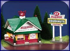 Krispy Kreme Doughnut Shop New Department Dept 56 Snow Village SV | eBay