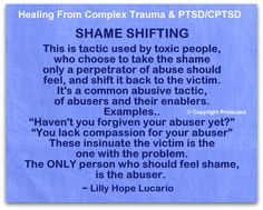 Shame Shifting – I do NOT tolerate ~ Lilly Hope Lucario Narcissistic Abuse Recovery, Narcissistic Sociopath, Narcissistic Personality Disorder, Verbal Abuse, Emotional Abuse, Emotional Vampire, Dark Triad, Ptsd Awareness, Complex Ptsd