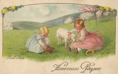 Pauli Ebner (1873-1949) — Old  Easter  Post Cards (866x550)