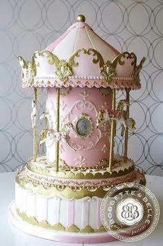 Pink Carousel cake