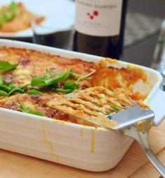 Täyteläinen chorizo-lasagne