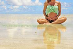 Tropical Beach Baby Bump Photo