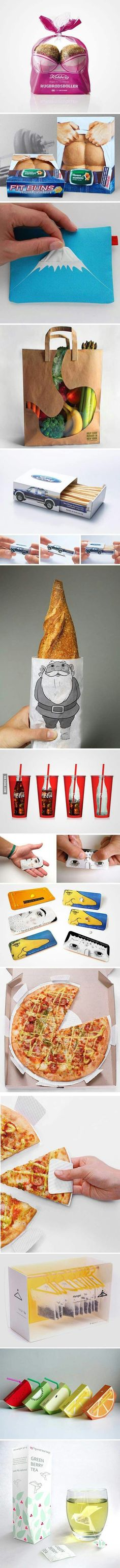 These are some clever and cool designs #packaging #ads #advertising #design #publicidad #diseño #diseny