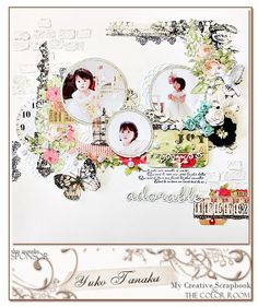 #papercraft #scrapbook #layout via The Color Room - Home yuko tanaka