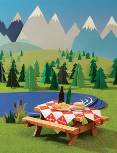 Holy amazing paper creations!  Hattie Newman: Picnic!