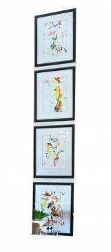 Colorful Abstract Original Art Series by Sabrina Baron - Mecox Gardens Palm Beach