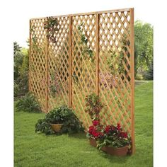 2 Wooden Garden Fence Panels: Patio, Lawn