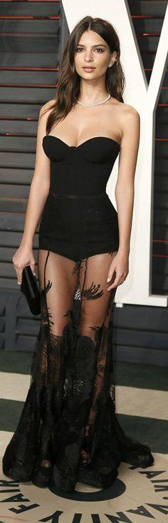 Emily Ratajkowski's wearing Dress – Stephen Khalil Shoes – Brian Atwood Purse – Tyler Alexandra Jewelry – Neil Lane