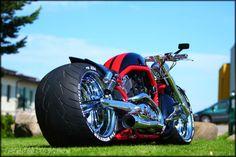 "Awesome custom bike Harley Davidson V Rod ""Charged"" by Fredy. Bobber Motorcycle, Motorcycle Design, Motorcycle Style, Bike Design, Custom Motorcycles, Motorcycle Garage, Custom Street Bikes, Custom Bikes, Harley Davidson Trike"