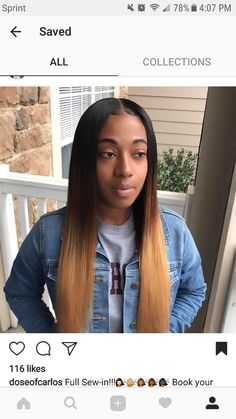 Online Shop Rabake Hair Ombre human hair colored hairstyle for black women.Online Shop Rabake Hair Ombre human hair colored hairstyle for black women. Brown Ombre Hair, Ombre Hair Color, Blonde Ombre Weave, Black Ombre, Weave Hairstyles, Straight Hairstyles, Baddie Hairstyles, Short Hairstyles, Ombré Hair