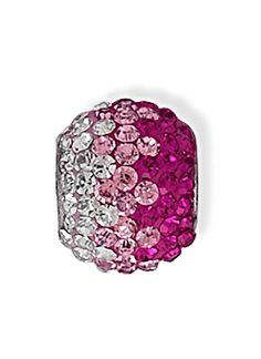 Sterling Silver Story Bead Collection Fading Pink Crystal Bead Charm. This Bead is compatible with Pandora, Troll, Chamilia, Biagi & other styles of European bracelets. These beads fit but does NOT represent any of these major brands!