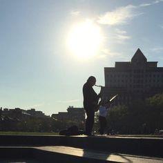 The next Charlie Parker? #Jazz #hoboken #sinatra #park #sunshine