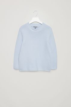 COS image 6 of Textured knit jumper in Powder Blue