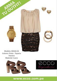 Lindísimos zapatos de nuestra exclusiva línea Ecco Signature que combinan súper bien con los brillos <3  donde?  sólo dale click a la imagen =)