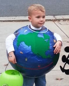 Coolest Paper Mache Earth Costume... 2014 Coolest Halloween Costume Contest