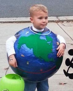 Coolest Paper Mache Earth Costume... 2014 Coolest Halloween Costume Contest