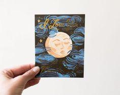 Carte to the moon Rifle paper co - Maison Mathuvu