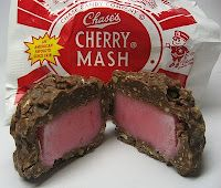 Homemade Cherry Mash candy, or add a maraschino cherry and it's a Farr's Cherry Cordial, which is awesomer.