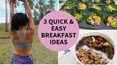 3 Quick & Easy Breakfast Ideas Quick Healthy Breakfast, Quick Easy Meals, Breakfast Ideas, Meal Prep, Frozen, Healthy Recipes, Morning Tea Ideas, Healthy Eating Recipes, Healthy Food Recipes