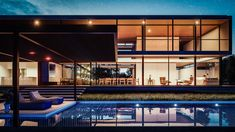 CASA CE - CACUPÉ | FLORIANÓPOLIS Layouts Casa, House Layouts, 3d Architectural Visualization, Residential Architecture, Building A House, Sweet Home, Exterior, Mansions, Interior Design