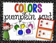 Pumpkin Color Sorting (free; from Creating & Teaching)
