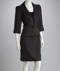 Charcoal Gray Blazer & Skirt Charcoal Gray, Grey, That Look, Take That, Gray Blazer, Business Chic, Peplum Dress, Elegant, My Style