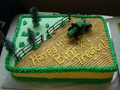 john deere birthday This was a white cake with buttercream icing