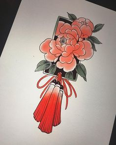No photo description available. Japanese Flower Tattoo, Japanese Flowers, Japanese Art, Mini Tattoos, Flower Tattoos, Cool Tattoos, Flor Oriental Tattoo, Tattoo Tradicional, Art Asiatique