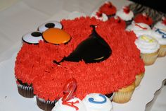 Elmo cupcake cake: find at Sam's club...also have seperate cupcakes with elmo rings